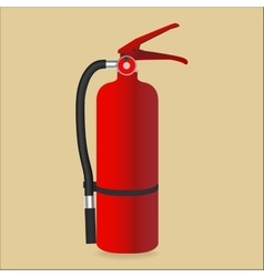Fire extinguisher isolated on color background vector image vector image