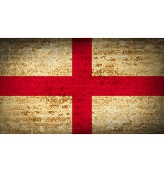Flags england with dirty paper texture vector