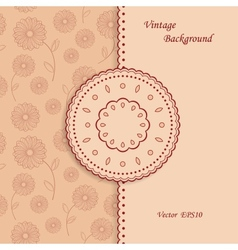 Floral background in vintage style vector image