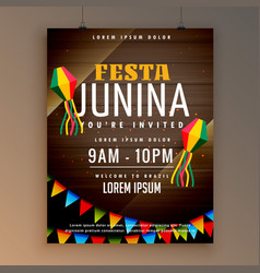 flyer design for festa juinina festical season vector image vector image