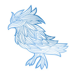 graphic bird vector image