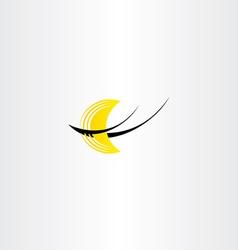 Half moon night logo icon stylized vector