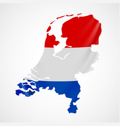 Hanging netherlands flag in form of map vector