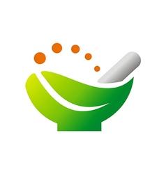 herbal medicine bio organic logo vector image