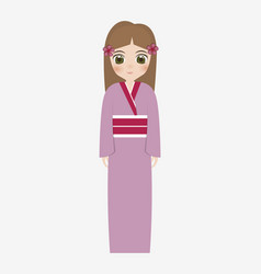 japan girls design vector image