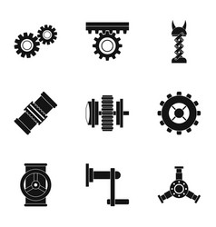 Mechanism icon set simple style vector