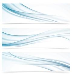 Modern abstract smoke swoosh line header vector image vector image