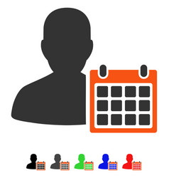 Patient calendar flat icon vector
