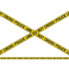 Police line - do not cross vector