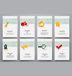 set of brochure design templates vector image
