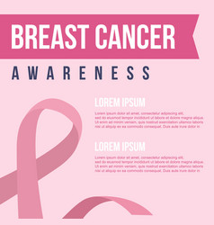 style card for breast cancer day vector image