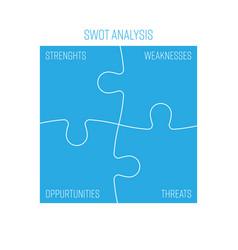 Swot business infographic diagram or swot matrix vector