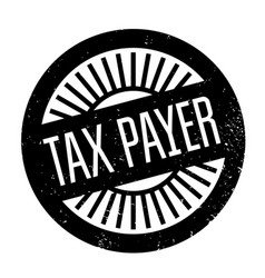 Tax payer rubber stamp vector