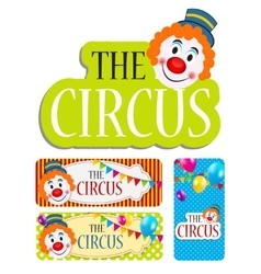 The Circus Banner Set vector image