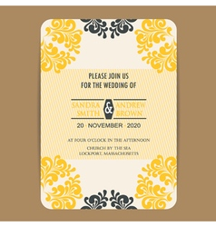 Wedding vintage wedding invitation card2 vector