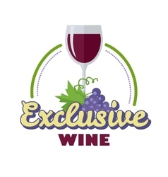 Exclusive wine logo icon symbol of elite drink vector