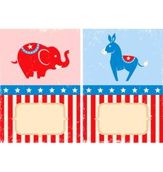 Symbols of American parties vector image