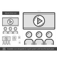 Movie time line icon vector