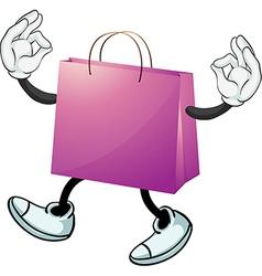A purple bag vector image