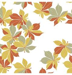 Autumn orange leaves seamless pattern vector image