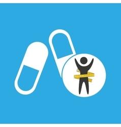 Lose weight concept sport medicine vector