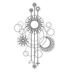 Astrology modern symbol vector