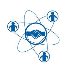 Successful business creative logo handshake deal vector
