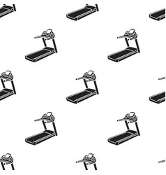 Treadmill icon in black style isolated on white vector