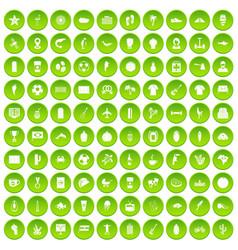 100 south america icons set green circle vector
