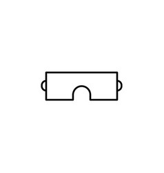 Safety glasses simple linear icon vector