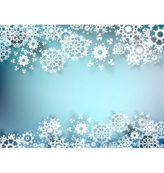 Christmas postcard with paper snowflakes eps 10 vector