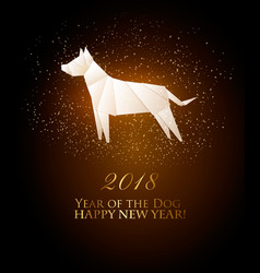2018 year of the dog calendar vector image