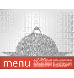 Food tray menu template vector