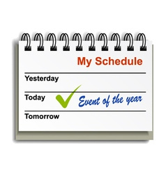 Tear-off day calendar vector