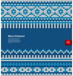 Christmas knitted vector image