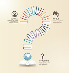 Questions Books Education Design concept vector image