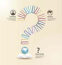 Questions books education design concept vector