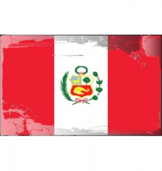 Peru national flag vector