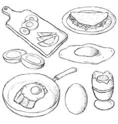 eggs collection vector image