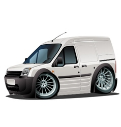 Cartoon delivery van vector