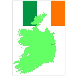 6140 ireland map and flag vector image vector image
