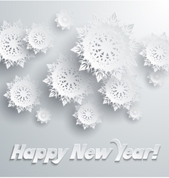 Happy new year snowflakes background vector