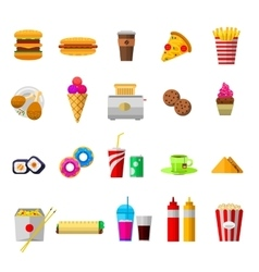 food icons isolated vector image