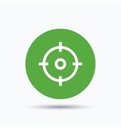 Target icon crosshair aim sign vector