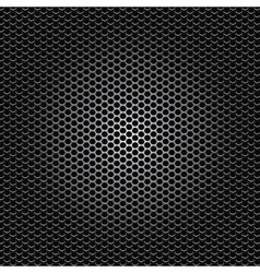 black metal dot perforated texture vector image