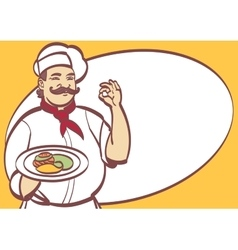 Cartoon chef cool art for any design eps vector