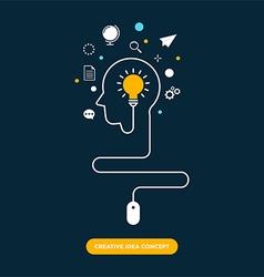 Creative idea concept inspiration process vector