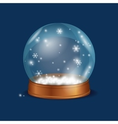 Crystall ball snow vector