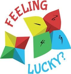 Feelling lucky vector
