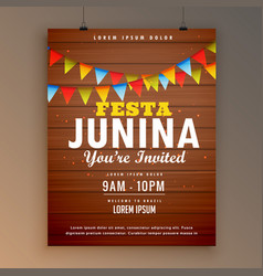 festa junina party invitation poster flyer design vector image